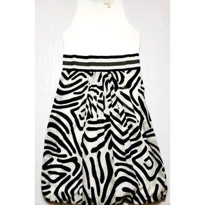 'S Max Mara Zebra Bubble Dress